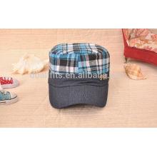 Großhandel Denim Material überprüft prinit stilvolle Military Cap / Hut