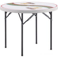 Outdoor 3ft Plastic Folding Round Coffee Beer Table with Folding Legs Made in China