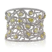 925 Sterling Silber Cuff Diamond Armbänder Schmuck mit CZ