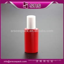 SRS 2015 new red refillable plastic packaging for essential,luxury empty 12ml PET perfume roll on bottles