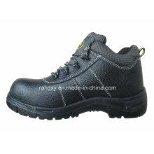 Chaussures de sécurité en plastique Shoebuckle de cuir fendu (HQ01021)