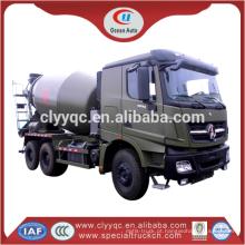 10 m3 caminhão misturador de concreto, 12 m3 caminhão misturador de cimento para venda quente