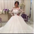 Saudi Arabia Robe de mariage Luxury Long Sleeve Wedding Dresses Lace Bride Ball Gown Plus Size WEDDING DRESS