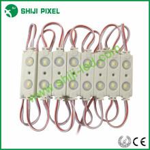 45 * 16 * 6mm 2leds 5050 RGB LED con lente trasera iluminación carta signos módulo IP66 impermeable DC12V 0.48W