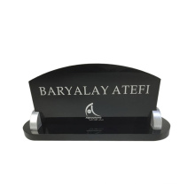 Factory Wholesales Black Desktop Acrylic Business Card Display Stand Holder