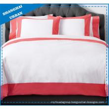 Rose Color Wide Border Cotton Bedsheet Set