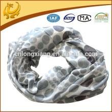 Classic Dot Various Colors Lines Long 100% lenço de seda chiffon geométrico para senhoras
