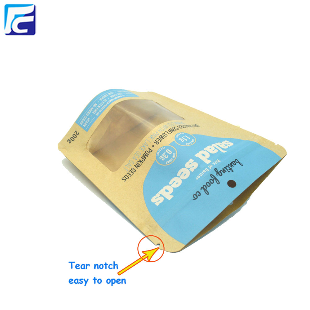 Resealable Kraft Paper Packaging Bags