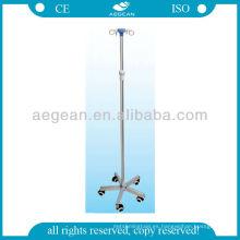 AG-IVP004 CE ISO altura ajustable 5 ruedas muebles médicos soporte de poste IV