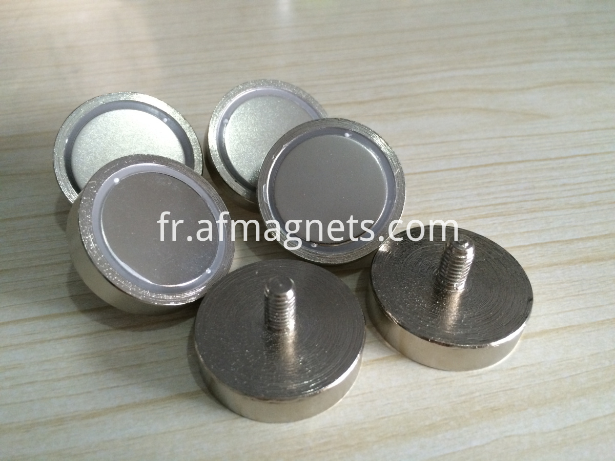 Dia 32mm Neodymium Pot Magnets With Male Thread