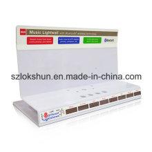 Pantallas de plástico de estantería de impresión para electrónica