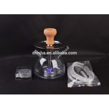 shisha de narguilé en plastique portable pas cher avec LED