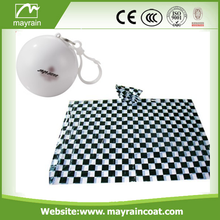 Convenient Ball Rain Poncho with Chain Key