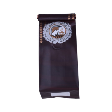 Zipper Top Side Gusset Tea Bag Dengan Logo