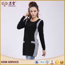 Commerce assurance oversize femmes cachemire long pull robe