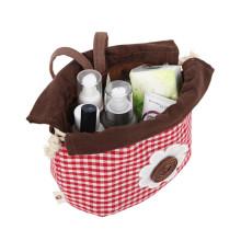 Wholesale New Product Printing logo cosmetic bag cask cosmetic travel bag women makeup drawstring bag