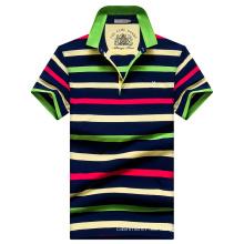 Camisas de los polos de la raya de los polos de los hombres de los OEM