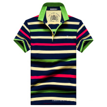OEM hommes polos rayures polos chemises polos de coton