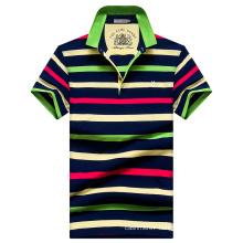 OEM Men Polo Shirts Stripe Polo Shirts Cotton Polo Shirts