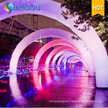 Custom Lighted LED Air Finishing Line Infatable Archway Advertising Arches