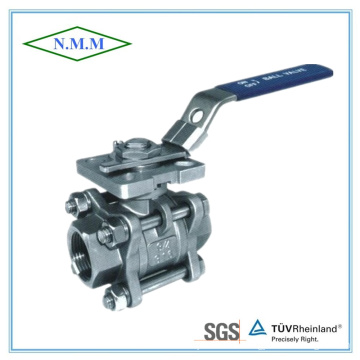 Full Bore Threaded End 1000wog 3PC Ball Valve with Mounting Pad