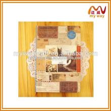 Caderno 2015 da capa do vintage com mede da fita em China no alibaba