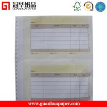 Papier continu d'ordinateur de bureau pour l'impression de documents
