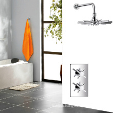 Thermostatic shower faucets with vernet cartridge and cross handle