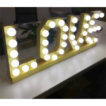 Light Up Love Signs Marquee Letter