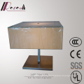 Decorative Living Room Fabric Shade Square Bedside Table/Desk Lamp
