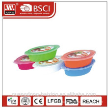 Kunststoff Runde Mikrowelle Essen Container(1.75L/2.4L)