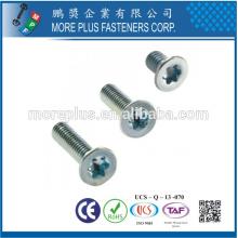 Taiwán M4X18 Zinc Rosca parcial Rosca Torx Tornillos de cabeza Tornillo de seguridad