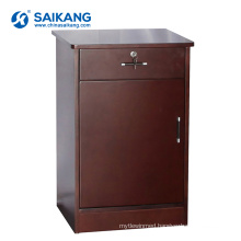 SKS019 Hospital Medicine Solid Wooden Bedside Storage Cabinets