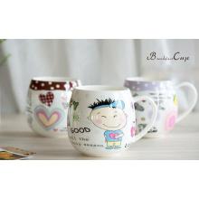 Рекламные керамические чашки с картонной печатью для подарков