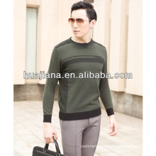 2015 fashion jacquard men's cashmere sweater