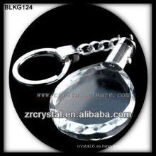 K9 Llavero de cristal ovalado en blanco para grabado láser BLKG124