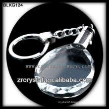 K9 Blank Oval Crystal Keychain for laser engraving BLKG124