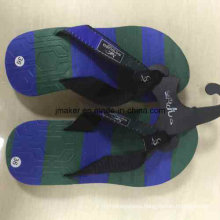Colorful Summer Beach Slippers with Printed Footbed for Men