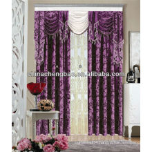 European style living room curtain/ high quality flannelette fabric