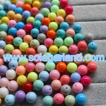 8-20MM Czech Opaque Mixed Color Round Shape Acrylic Loose Beads