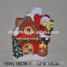 2016 navidad decoración de cerámica muñeco de nieve escalada de la casa
