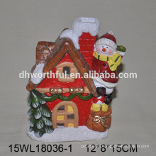 2016 christmas decoration ceramic snowman climbing the house