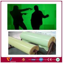 China novos produtos brilham no filme de laminação de folha de pvc fluorescente escuro fluorescente