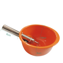 Thickening Automatic Small Size Orange Plastic Pig Hog Piglet Sow Water Bowl Pig Drinking Water Bowl Drinker for Pig