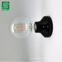 Good Quality Glazed Black Color porcelain E27 Lamp Socket