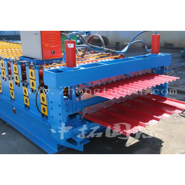 Lembaran Tali Trapezoid Warna Glazed Double Layer Machine