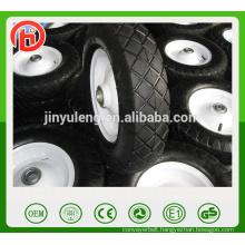 popular square pattern pneumatic rubber wheel for wagon , wheelbarrow