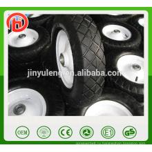 популярный квадратный узор пневматическое резиновое колесо для повозки , тачки