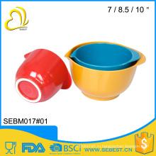 Евро пищевыми продуктами стандартный цвет бамбука меламиновые пластиковый тесто чаша