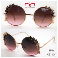 Spezielle Design Sonnenbrillen mit Blumen Dekoration Runde Rahmen Sonnenbrillen (30388)